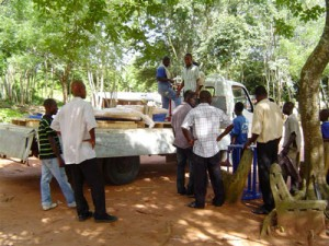 Delivery Truck Getting the whirl to Akyremateng
