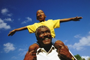 father and son Men's health week reminds us to stay active this Father's Day