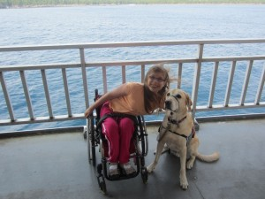Leah and Kwincy Service dog Kwincy – my daughter's best friend