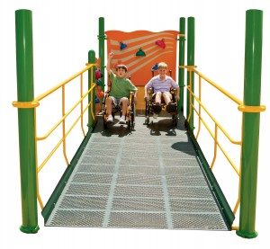 wheelchair station Assessing a playground