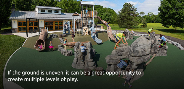 Uneven Ground Can Be Used for Multiple Levels of Play