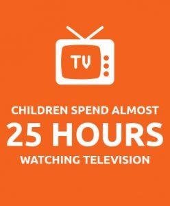 children spend 25 hours watching television