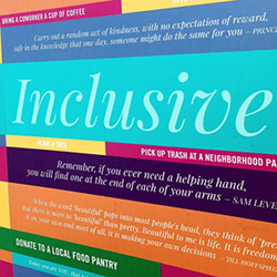 Inclusive mural featured at a Magical Bridge playground