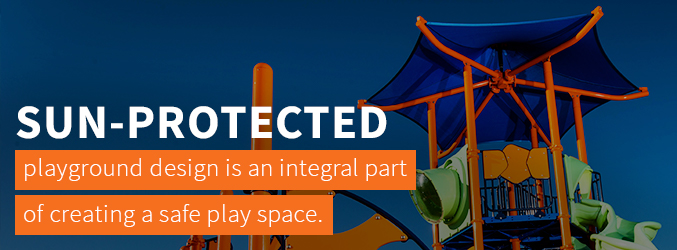 Sun-protected playground design