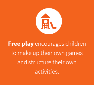 Encourages children to make up their own games