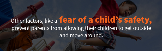 Fear Of A Child's Safety Prevents Parents From Allowing Their Children To Get Outside And Move Around.