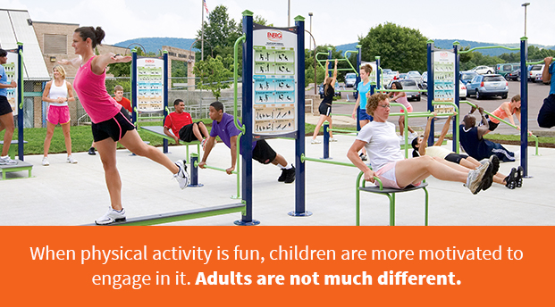 When Physical Activity Is Fun, Children Are More Motivated To Engage In It. Adults Are Not Much Different.