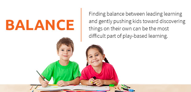Balance Between Learning And Gently Pushing Kids Toward Discovering Things On Their Own
