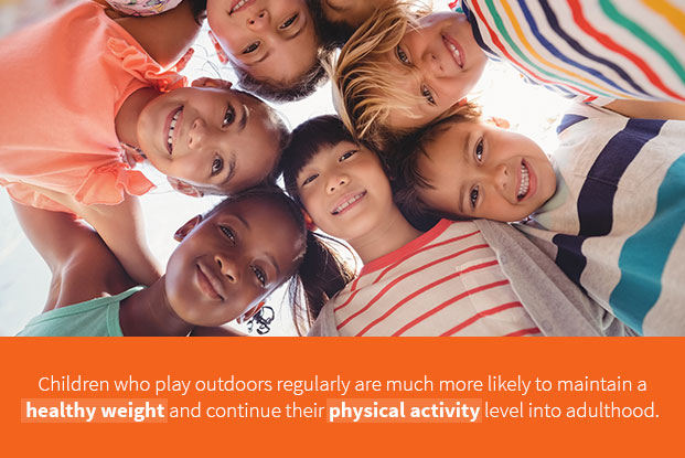 Outdoor Play Can Help Children Maintain A Healthy Weight