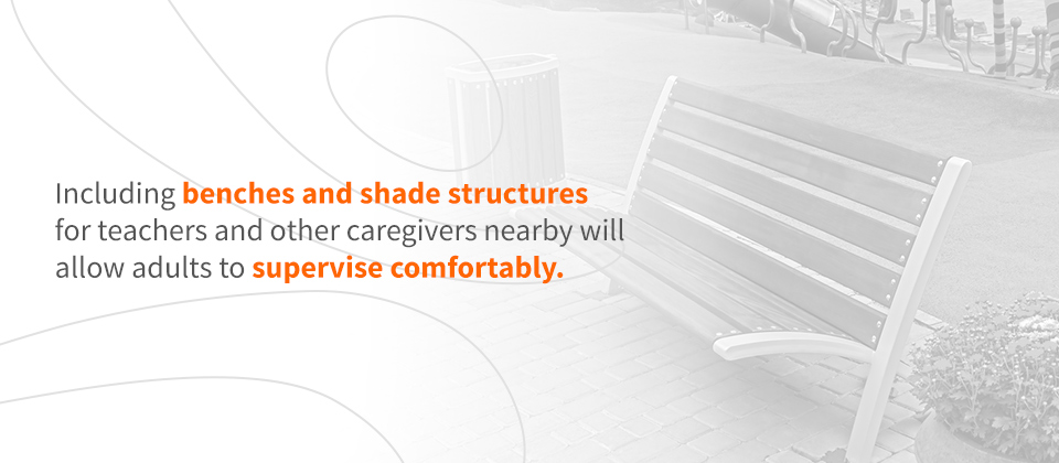 Benches And Shade Structures For Teachers And Caregivers