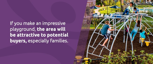 Playgrounds attract families