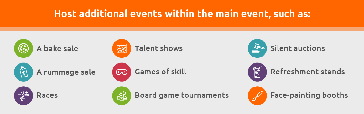 Host additional events