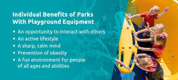Individual benefits of parks and recreation benefits