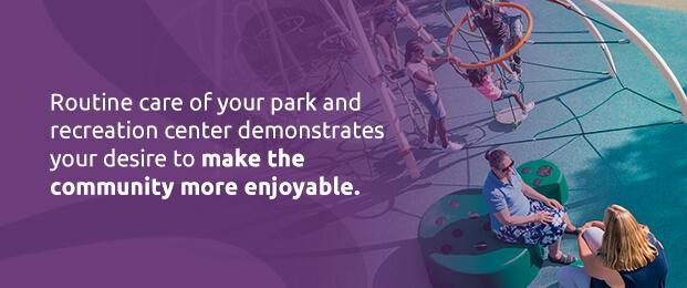 Create a park maintenance schedule