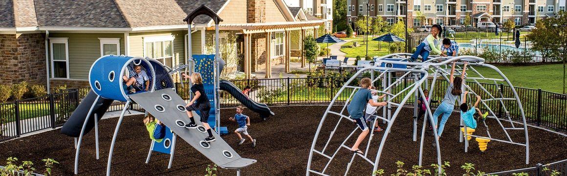 Housing complex playground