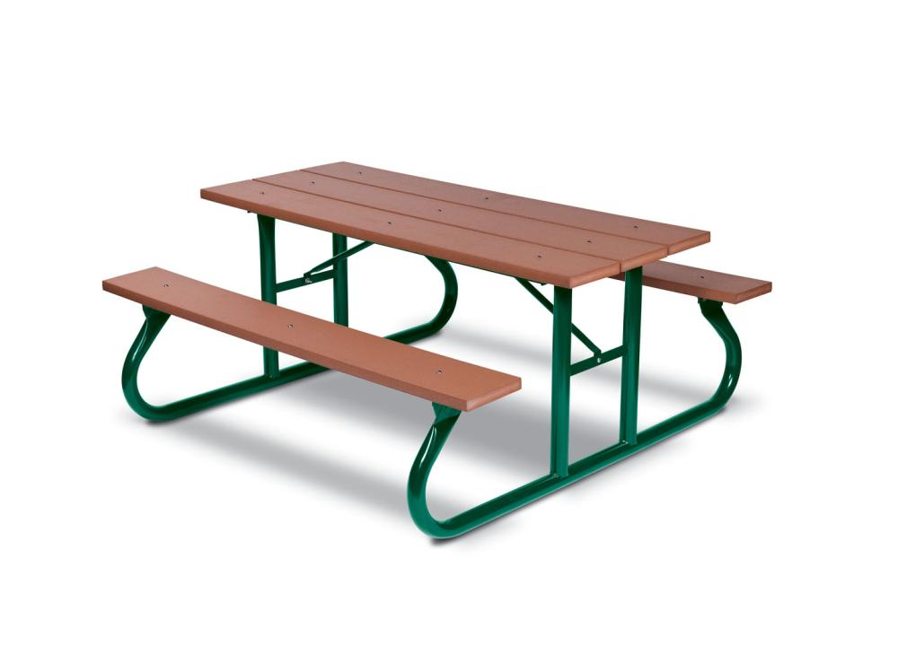 Recycled Plastic Picnic Table 6' (1,83m) Portable - Picnic Tables,Site Furnishings