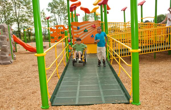 ADA comliant playground equipment
