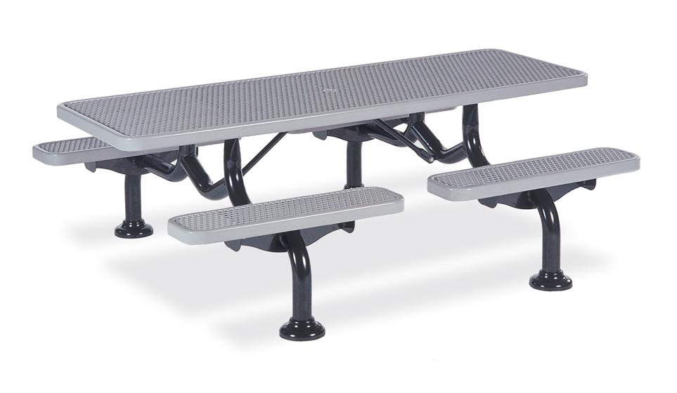 Diamond Individual Seat Table 7' (2,13m) In-Ground - Picnic Tables