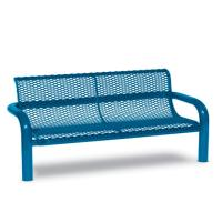 Diamond Contemporary Bench with Back 6' (1,83m) In-Ground - Benches thumbnail